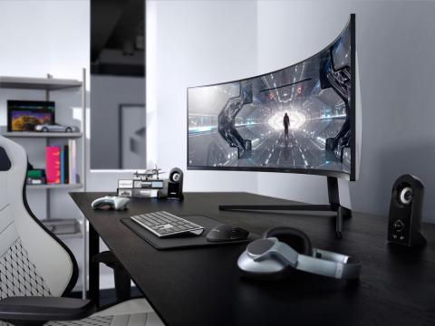 El Odyssey G9 de Samsung es un monitor de 49 pulgadas de 5120 x 1440p que es básicamente lo mismo que si dos monitores de 24 pulgadas estuvieran pegados.