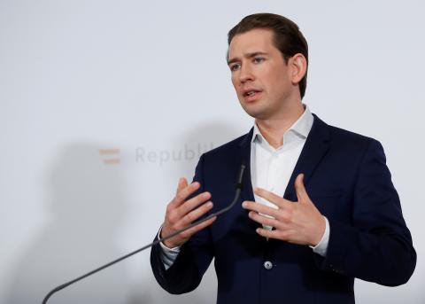 Sebastian Kurz, canciller de Austria.