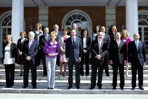 El segundo Gobierno de Zapatero.