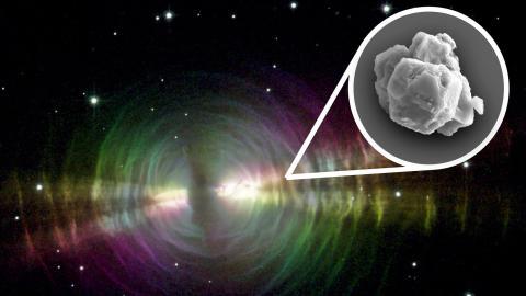 Sitios como la Nebulosa del Huevo (en la foto) podrían ser la fuente de las partículas de polvo estelar como las encontradas en el meteorito Murchison.