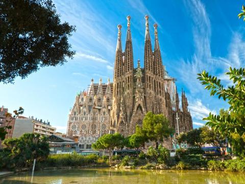 La Sagrada Familia en Barcelona, España.