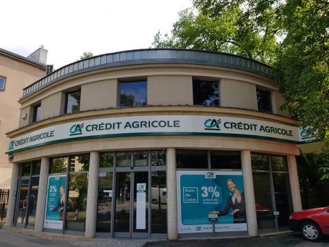 Una sucursal del banco francés Crédit Agricole en Varsovia (Polonia)
