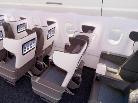 Though already some of the best seats in the house, first-class seating can also get an upgrade.
