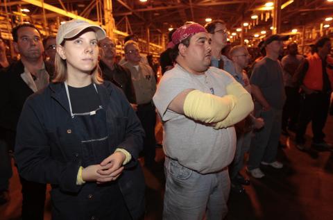 Trabajadores de General Motors es una asamblea, 2009.