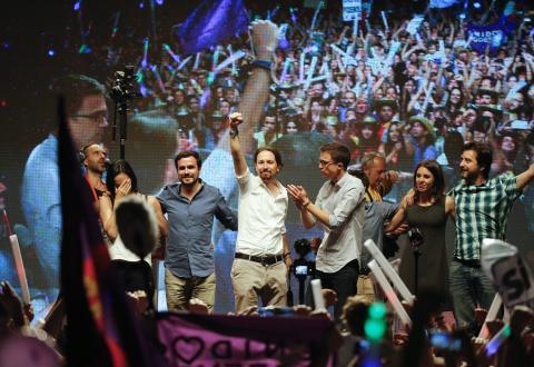Unidos Podemos en su cierre de campaña de 2016.