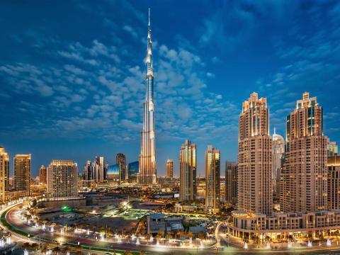 El Burj Khalifa en Dubai, Emiratos Árabes Unidos.