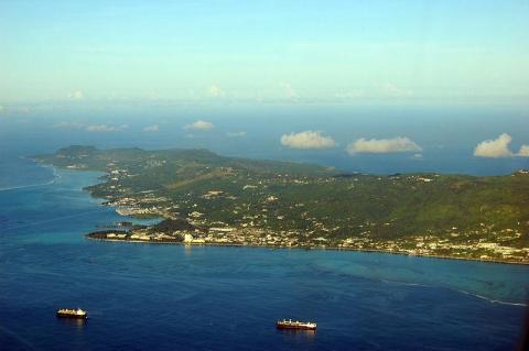 La isla estadounidense de Saipán, situada en el Pacífico.