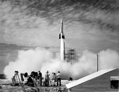 The US launched its first spacecraft in 1950. The upper stage of the Bumper 2 rocket soared 250 miles (400 kilometers) above Earth.