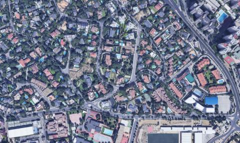 Vista aérea de la urbanización en Mirasierra.