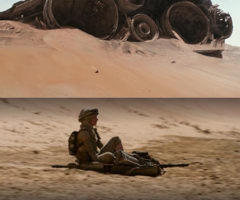 Rey termina la trilogía como la comenzó. Con arena.