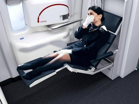 While normally overlooked in terms of in-flight comfort, flight crews can also get in on the trend.