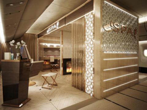 Dubai Aviation's in-flight spa concept.