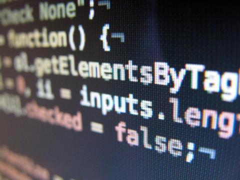 Un pequeño código JavaScript.