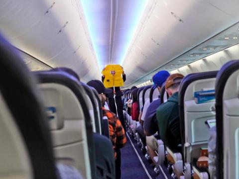 5. Pay attention to the safety presentation — even if you've flown before.