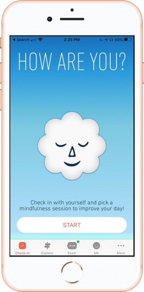 6. Try meditating in your seat with apps like Breathe.