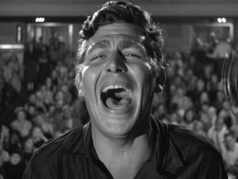 Andy Griffith en Un rostro en la multitud