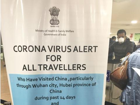 Señal de advertencia a los viajeros.
