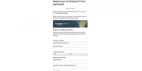 Datos de registro Business Prime