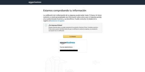 Comprobación de cuentas de Amazon Business Prime