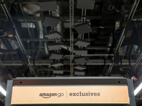 Amazon monitors customers' actions once they're inside using a complex and extensive array of cameras, sensors, and motion-detection software.