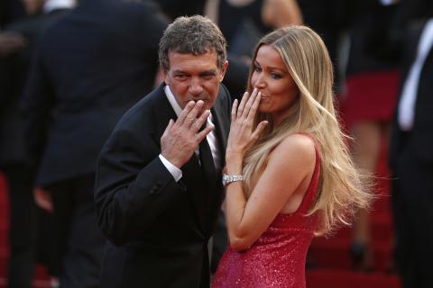 Antonio Banderas y Nicole Kimpel.