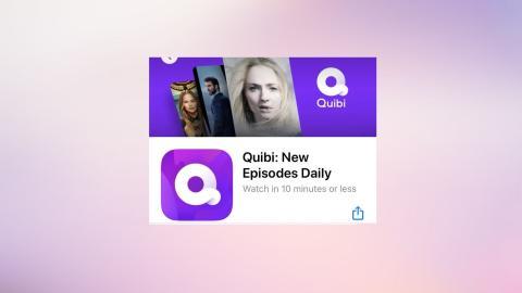 La app de Quibi ya se encuentra disponible (en Estados Unidos) en la App Store y la Play Store.