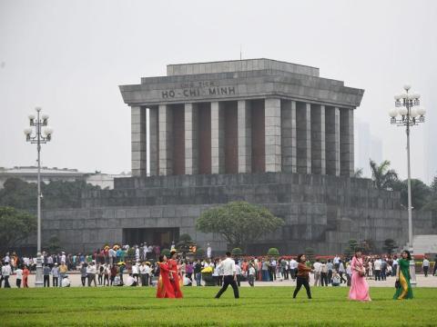 El mausoleo de Ho Chi Minh en Hanoi el 2 de marzo de 2019.
