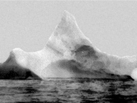El iceberg que se cree que ha hundido el Titanic