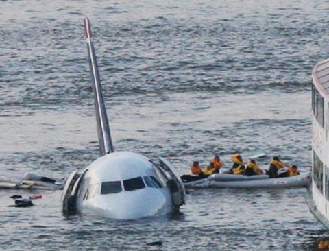 """El avión del """"milagro en el río Hudson""""."""