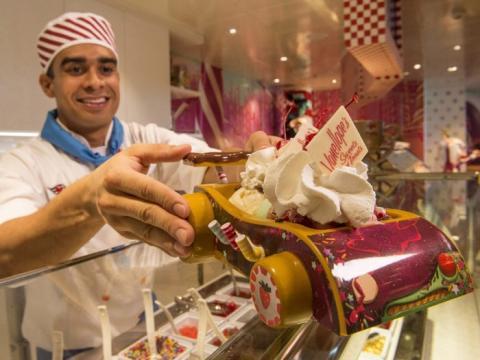 A bordo del Disney Dream hay una heladería especializada con la temática de la película 'Rompe-Ralph'.