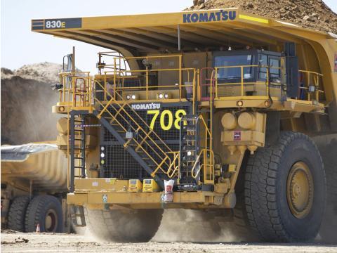 Camión minero Komatsu de Anglo American.