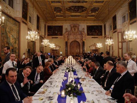 Una cena durante la conferencia de seguridad de Múnich en 2017