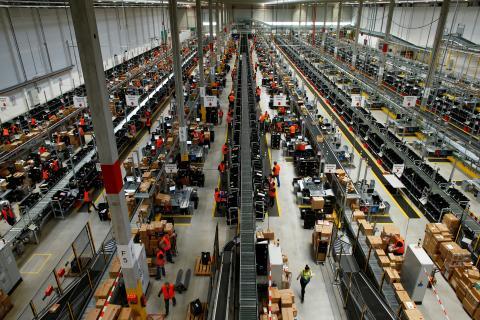 Centro logístico de Amazon en la ciudad de Dortmund