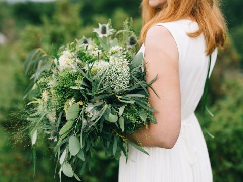 Choose greenery over fresh flowers.