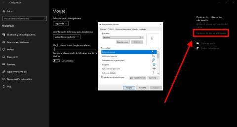 Cómo cambiar los botones del ratón en Windows 10
