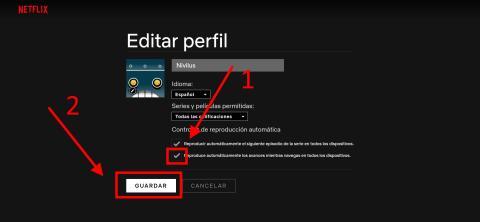 Cómo desactivar la reproducción automática de tráilers en Netflix