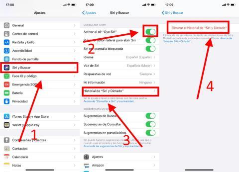 Cómo desactivar Siri en el iPhone