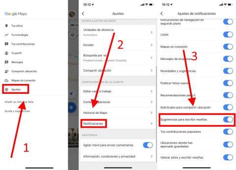 Cómo evitar que Google Maps te pida escribir reseñas sobre los sitios que visitas