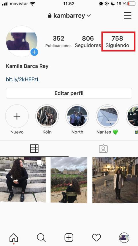 Cómo gestionar a las personas que sigues en Instagram paso a paso