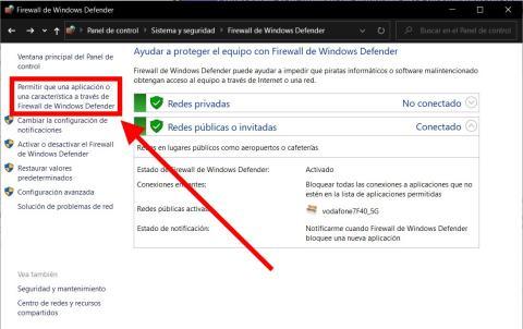 Cómo saber si el firewall de Windows está bloqueando un puerto o un programas concreto