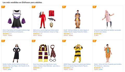 disfraces más vendidos Amazon