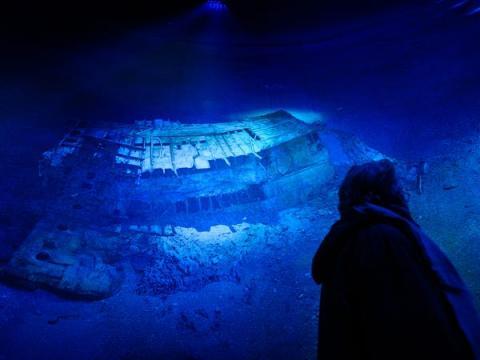 La gente puede explorar los restos de varias maneras, como esta exposición Panorama en Leipzig