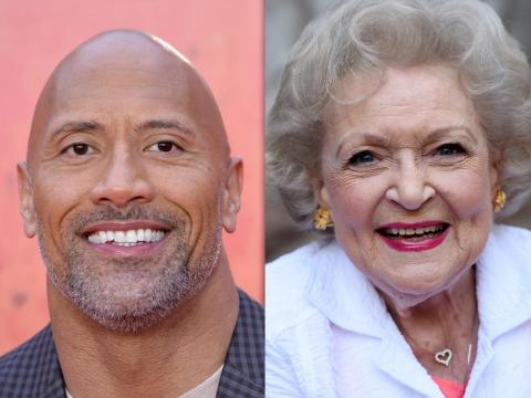 Dwayne Johnson and Betty White both hold world records.