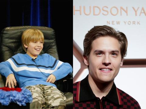 Dylan Sprouse en 2005 (izquierda), el año en que fue elegido como Zack Martin en 'Las aventuras de Zack & Cody' y en 2019 (derecha).