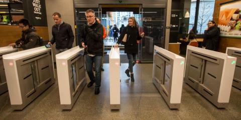 Before entering an Amazon Go store, customers must scan their smartphone so Amazon can figure out who they are.