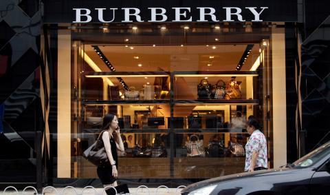 El escaparate de la tienda de Burberry en Pekín