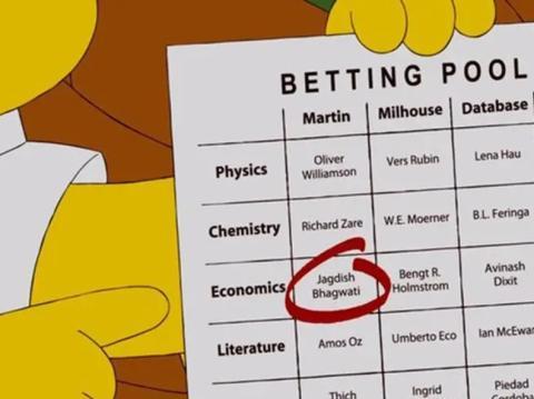 Escena de un capítulo de Los Simpsons