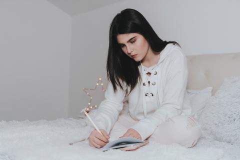 escribir, habitación, domir