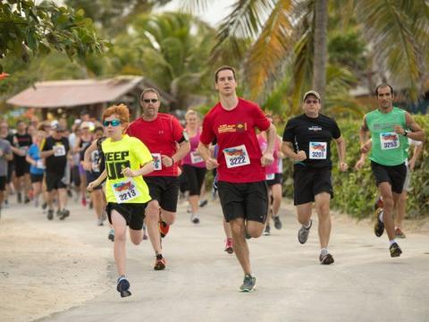 Esta carrera tiene lugar normalmente en Castaway Cay.