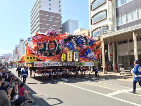 Festival Nebuta en Aomori, Japón.